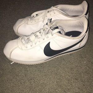 Black and white Nike Cortez